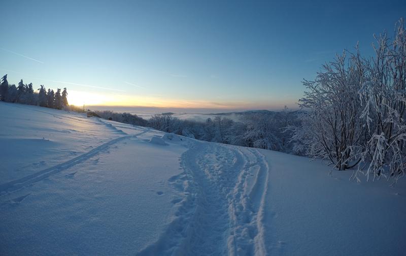 Spuren im Schnee Kreuzberg